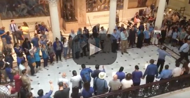 state house prayer video