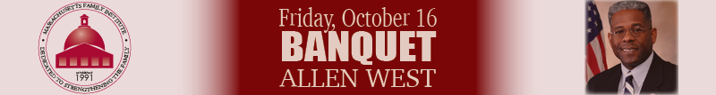 Allen West banquet banner - small